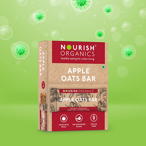 Nourish Health Bars Apple Oats Bar
